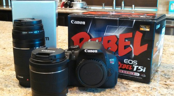 Canon EOS Rebel T5i SLR Digital Camera 18-55mm 75-300mm Bundle Unboxing