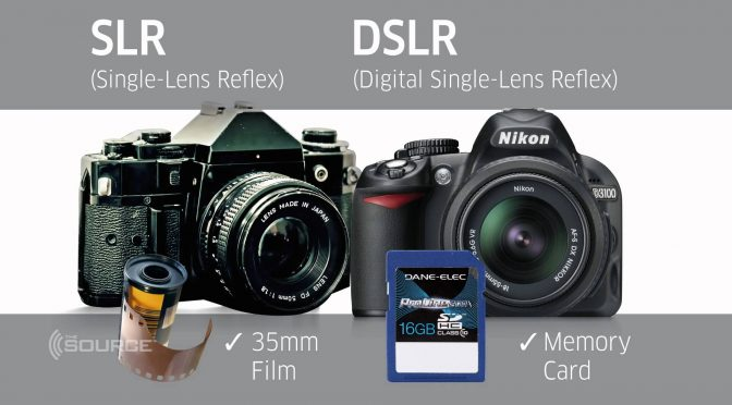 The differences between DSLR and SLR cameras