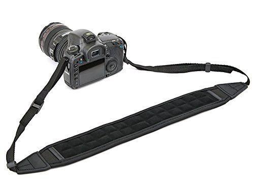 DSLR Camera Shoulder Strap, Camera BIRUGEAR Ultra Comfort Air Cushion Non-Slip Neoprene Neck Shoulder Strap For Canon, Nikon, Sony, Panasonic, FujiFilm, Olympus and more Digital SLR Camera – Black